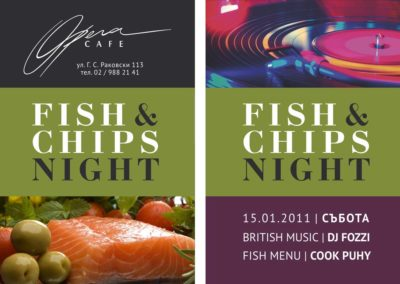 Fish and chips party flyer 3