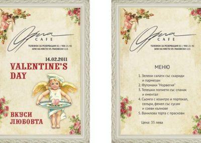 Opera Valentine day flyer